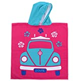 Volkswagen Girl VW Beach Poncho Towel, Pink, One Size