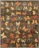 Nain Trading Ziegler Gabbeh 320x259 Orientteppich Teppich Dunkelbraun/Orange Handgeknüpft Afghanistan Design Teppich Modern