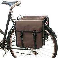 Beluko Classic Double–Bolsa para bicicleta, con doble Alforja, para mujeresypara hombre, bel-classic-brown