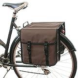 Beluko® Moda classica doppia Pannier Borsa da bicicletta, da donna, da uomo, bel-classic-brown
