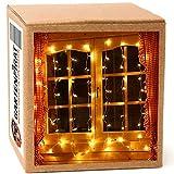 Lichterkette für Fenster Lichtervorhang 1,3x1,3 breit 80 LED innen Weihnachten