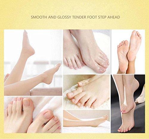 Lavendel Haut, Körper Zu Waschen (Lanspo Fuß Hautpflege Maske 1Pair Peeling Schale Mask Baby Soft Feet Kallus Removal Hard Dead Skin Pflege)