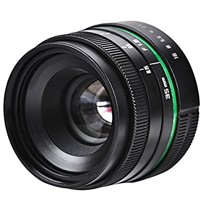 Acouto Lente Fija, 35mm F/1.6 CCTV Lente de la Cámara Objetivo para Cámara Fija Lente de Enfoque Manual para Cámara Canon Sony Etc