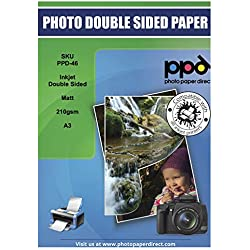 A3 Papier photo double face Matt 210g X 100 feuilles