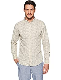 United Colors of Benetton Men's Floral Slim Fit Casual Shirt