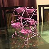 MIB Metal Ferris Wheel 5 Cups Pink Cupcake Stand Holder (Pink)