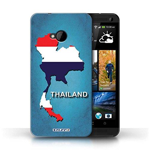 Kobalt® Imprimé Etui / Coque pour HTC One/1 M7 / Afrique du Sud/Afrique conception / Série Drapeau Pays Thaïlande/Thai