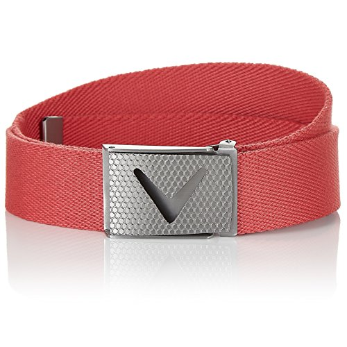 Callaway Cut-to-Fit Solid Webbed Belt, Ceinture Homme, Rouge (Rojo 5f428487513