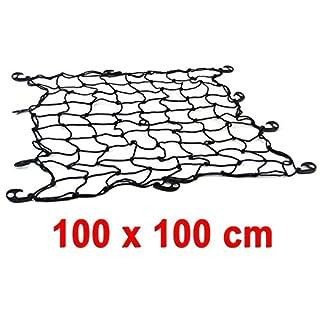 Gepäck Trenn Kofferraum Netz elastisch mit 10 Haken schwarz 100 x 100 CM