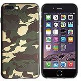 Colorfone Custodia Cover per Apple Iphone 6 / 6s 4.7' Mimetica Verde Scuro Militare Esercito Camouflage Military Army Tpu Gel Silicone Morbido Opaca Elegante Resistente Flessibile