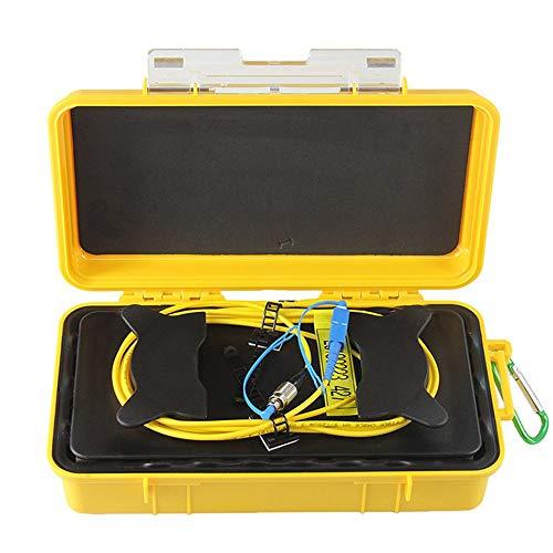 FC-UPC/SC-UPC Professioneller Einmoden-OTDR-Einführungskabelkasten mit 2000 M Glasfaserring OTDR-Einführungsglasfaserkabel-Gelb & Rückseite -
