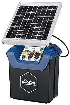 Lister Weidezaungerät WZG 9.07 S, 12 Volt Akkugerät mit Solarpanel inkl. Akku, Anschlusskabel und Erdstab von Lister bei Du und dein Garten