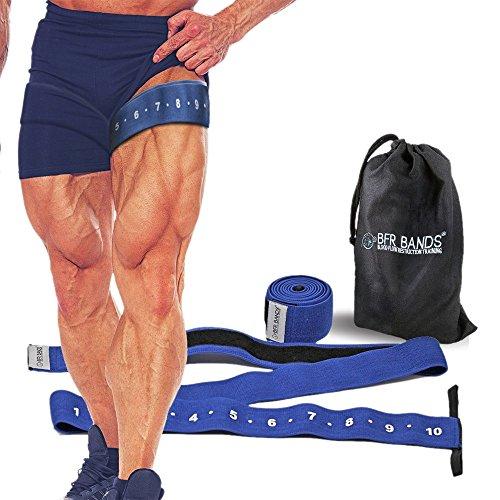 """Quad Wrap Okklusionstrainingsbandagen für Beine und Waden, 7,6cm breite Bandagen für """"Blood Flow Restriction"""" für schnelles und schlankes Muskelwachstum ohne Heben schwerer Gewichte"""