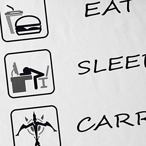 CottonCloud Eat Sleep Carry Repeat Herren T-Shirt Weiß