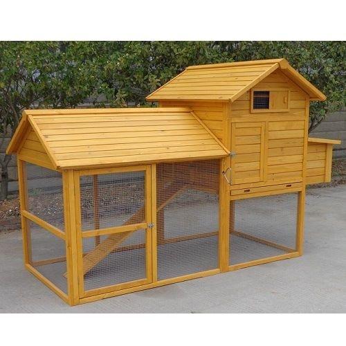 Pollaio il legno da giardino per 6-10 galline modello padovana xxl