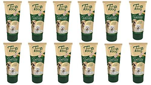 2,99€/100g 12 Tuben Leberwurst a 75g (900g insgesamt) für Hunde Hundeleberwurst mit Gelantine