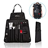 BFULL Utensilios de barbacoa, 21 piezas BBQ Parrilla Barbacoa Set, Deluxe Barbecue Tool Set con 2-en-1 Storage Bag - Juego de accesorios de barbacoa Kit para Backyard BBQ Party, Camping