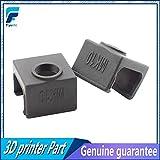 Laliva 3D-Drucker - 1 x MK10 schwarze Silikon-Socke statt Keramik-Isolierung für Wanhao i3 Flashforge Silikon Heizblock Abdeckung