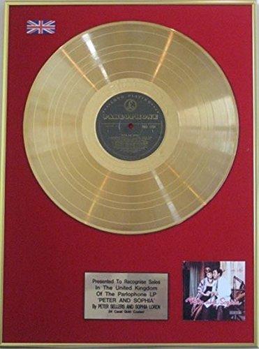 Peter venditori & Sophia Loren-disco d' oro 24carati LP