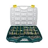 2460-teiliges Set M5 & M6 Edelstahl Sechskantschrauben mit Gewinde bis Kopf (DIN 933), Sortimentskasten inkl. Scheiben (DIN 125/127 / 9021) und Muttern (DIN 315/934 / 985/1587), Material A2 / V2A