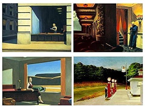 Set 4sets de table Edward Hopper (peintre)–2° version