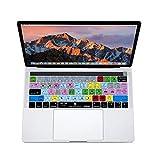 XSKN Tastaturcover, englisches Adobe Premiere Pro CC Shortcut Design, Silikon, für Apple Multi Touch-Bar, MacBook, 33cm/ 38,1cm (13 Zoll/ 15 Zoll), A1706und A1707, US- und EU-Layout