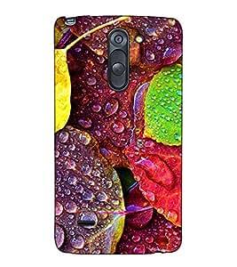 Fuson Designer Back Case Cover for LG G3 Stylus :: LG G3 Stylus D690N :: LG G3 Stylus D690 (Designer Leaves with Water )