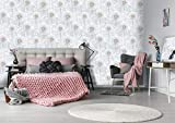 ZUNTO tapete pusteblume grau Haken Selbstklebend Bad und Küche Handtuchhalter Kleiderhaken Ohne Bohren 4 Stück