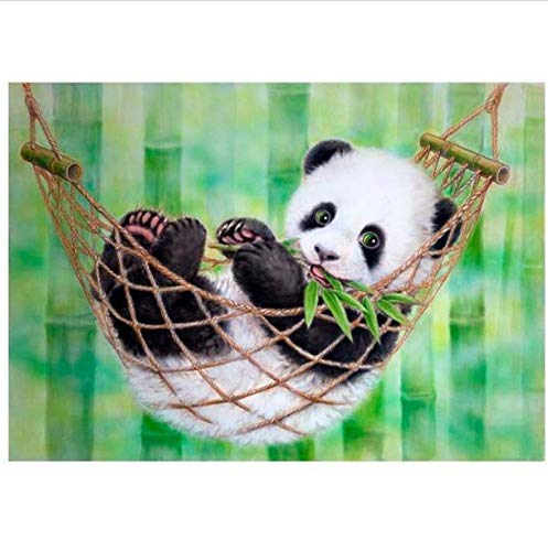 SZX Bohrer 5D DIY Diamant Malerei Tiere Schöne Panda Tier Stickerei Kreuzstich Strass Mosaic Painting Geschenk 30X40 cm, Quadratischer Bohrer Strass-panda