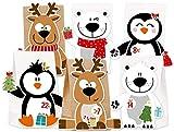 KuschelICH Adventskalender zum Befüllen Eisbär Rentier Pinguin - mit Stickern zum Gestalten und selber Basteln - Neuheit 2018 (X-Mas-Friends)