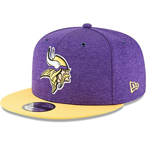 New Era NFL Minnesota Vikings Authentic 2018 Sideline 9FIFTY Snapback Home Cap, Größe :M/L -