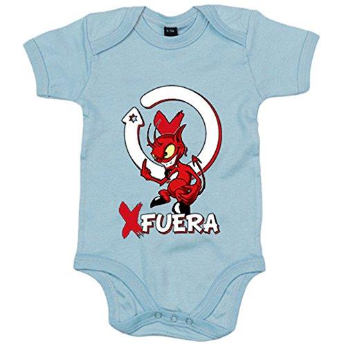 Body bebé motero diablillo por fuera - Celeste, 12-18 meses