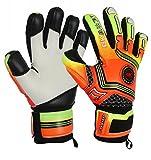 GK Saver Fußball Torwarthandschuhe Champ 01orange Negativ Cut Torwart Handschuhe, NO FINGERSAVE / NO PERSONALIZATION, Größe 5