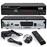 hd-line Strom 505 DVB-T2 Receiver - HEVC/H.265 - H.264 / MPEG2 - MPEG4 / 1080i - 1080p Standard (Full HD 1080P, HDMI, SCART, USB 2.0) Automatische İnstallation schwarz
