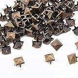 8 mm Metall Pyramidennieten Kupfer 100 Stück Acryl Bullet Spike Kone Schraubverschluss Perlen Aufnähen Kleben Aufkleben, DIY Kleidung Taschen & Schuhe Verzierung Cool Nieten Punk