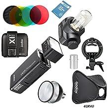 Godox AD200 Nuevo 2.4G TTL Bolsillo Flash 200Ws TTL HSS 1 / 8000s Flash Con 2900mAh Litio Batería+X1T-N Tranmisor +AD-S2 Reflector Estándar+AD-S11 Filtro +AD-S15 +S-Type montaje de Bowens+40*40 Softbox Para Nikon Cámara