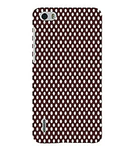 Maroon Dots 3D Hard Polycarbonate Designer Back Case Cover for Huawei Honor 6
