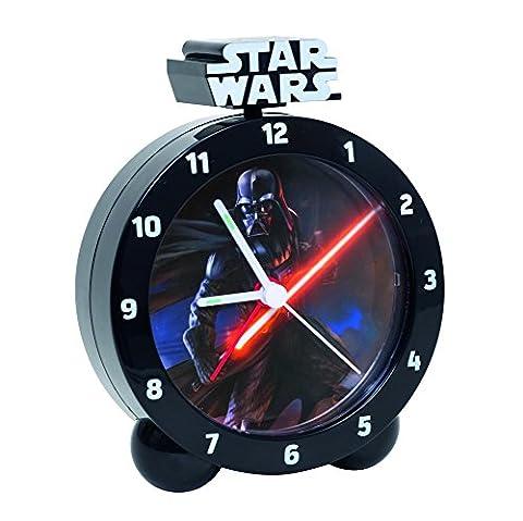 Darth Vader Wecker mit Licht & Sound Star Wars Uhr Kinderwecker Clone R2D2