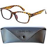 Elegantes Gafas con Filtro de Luz Azul Unisex para Leer, Cristales Transparentes que Bloquean la Luz...
