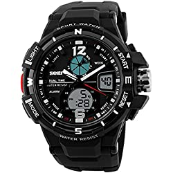 1148 Analog Digital Dual Time Chronograph Waterproof Men Sport Watch