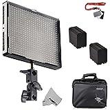 Fomito® Aputure Amaran AL-528W CRI95 + Panel de luces led de video de gran angular Kit de iluminación de estudio con 2 baterías de ion-litio F970