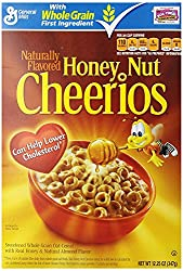 General Mills Whole Grain Honey Nut Cheerios Cereal, 347g [Imported, All Natural & Gluten Free]