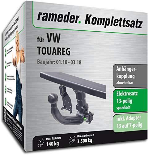 Rameder Komplettsatz, Anhängerkupplung abnehmbar + 13pol Elektrik für VW Touareg (119214-08607-3)