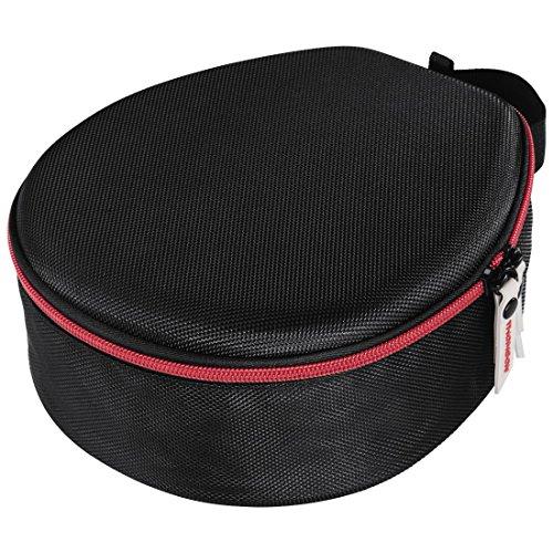 Thomson On-Ear/Over-Ear Kopfhörer Tasche (Hardcase zur Aufbewahrung, anpassbar an verschiedene Kopfbügel-Breiten, Travel Case mit Reißverschluss und Zubehör-Netzfach, Headphone Box) schwarz - 2