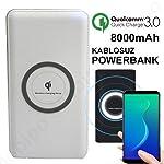 Kablosuz Powerbank Şarj Aleti Wireless Şarj 8000 mAh