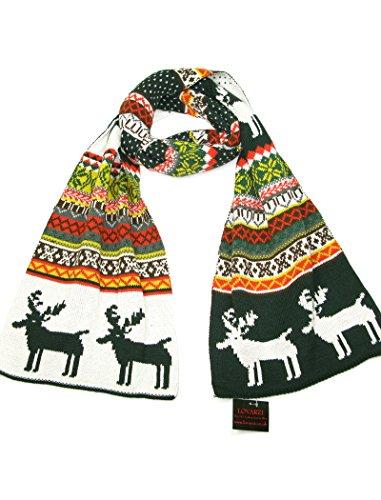 Damenschal Grün - Weihnachten Schals für Männer und Frauen - Lovarzi Männer Damen Winterschals