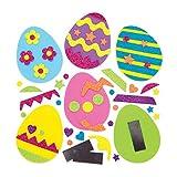 Baker Ross Kit Uova di Pasqua con Decorazioni intercambiabili e calamita (Confezione da 10) - Creazioni pasquali per Bambini, da Realizzare ed esporre