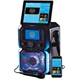 Daewoo AVS1302 Bluetooth Portable Karaoke Machine with 2 Wired Microphones, 5 inch Digital LCD Display Screen, 3.5mm AUX…