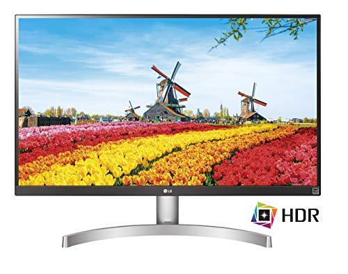 "LG 27UK600 Monitor, 27"", LED IPS UltraHD 4K HDR 10, 3840x2160, AMD FreeSync, 1 Miliardo di Colori (10bit), 2x HDMI 1x Display Port, Uscita Audio, Nero/Argento"
