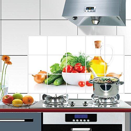 Anti-ÖL-Wandaufkleber Hersteller Ay3018 PflanzenöLbestäNdige KüChe Hohe Temperatur Hintergrund Dekorative Malerei Umweltschutz Pvc-Aufkleber 45X75Cm -